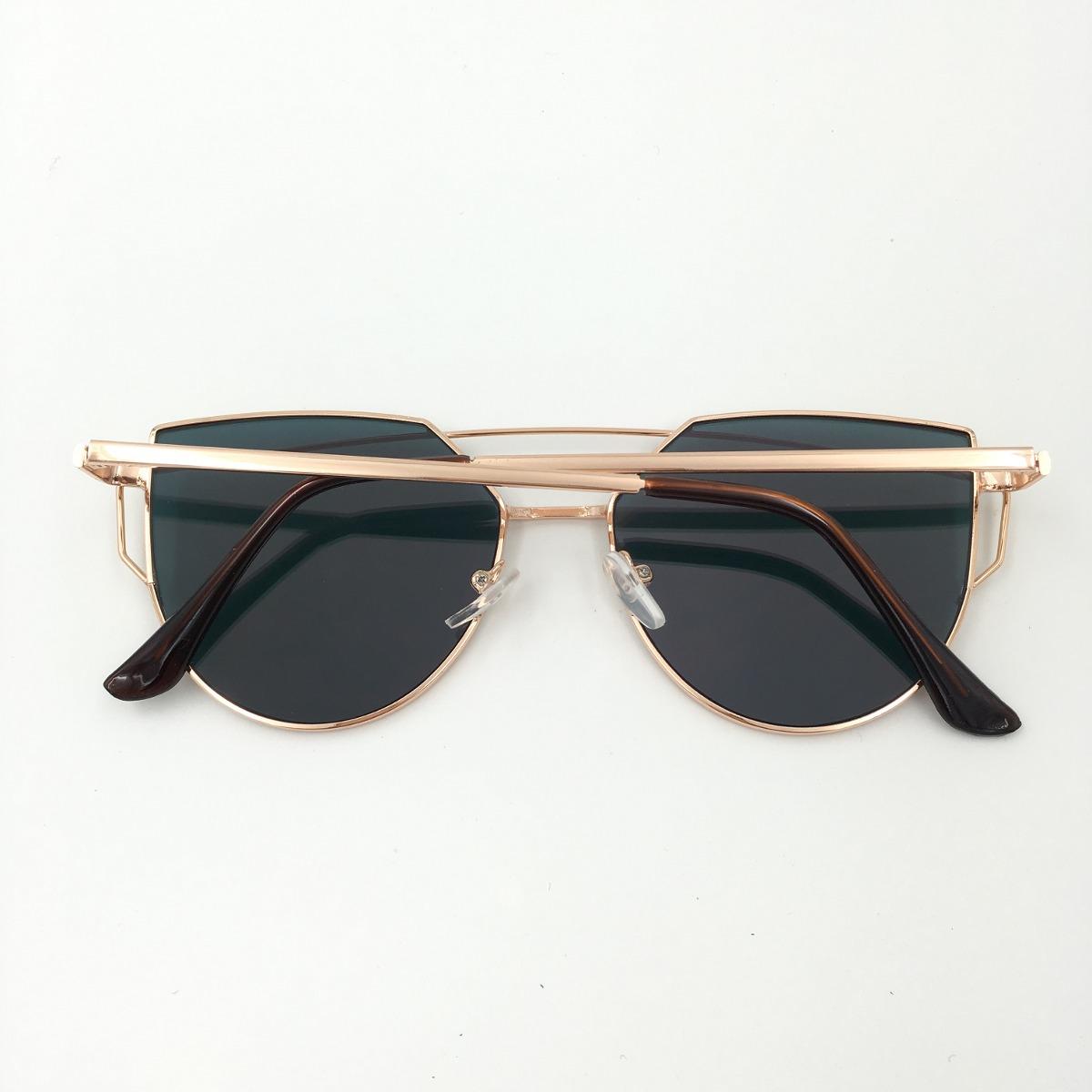 a076ac603edb5 óculos espelhado feminino olho de gato gatinho metal redondo. Carregando  zoom.