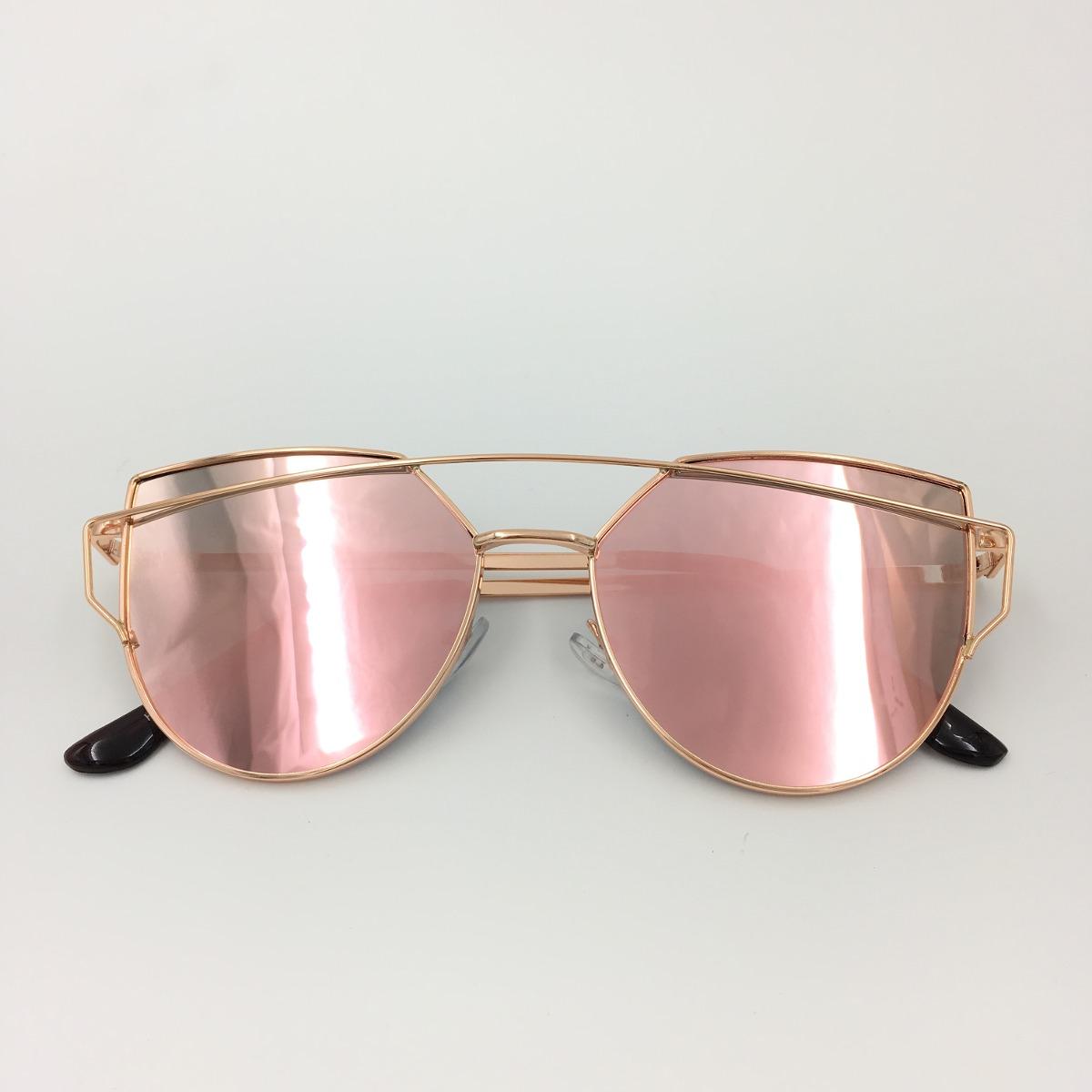 301acbfcd óculos espelhado feminino olho de gato gatinho metal redondo. Carregando  zoom.