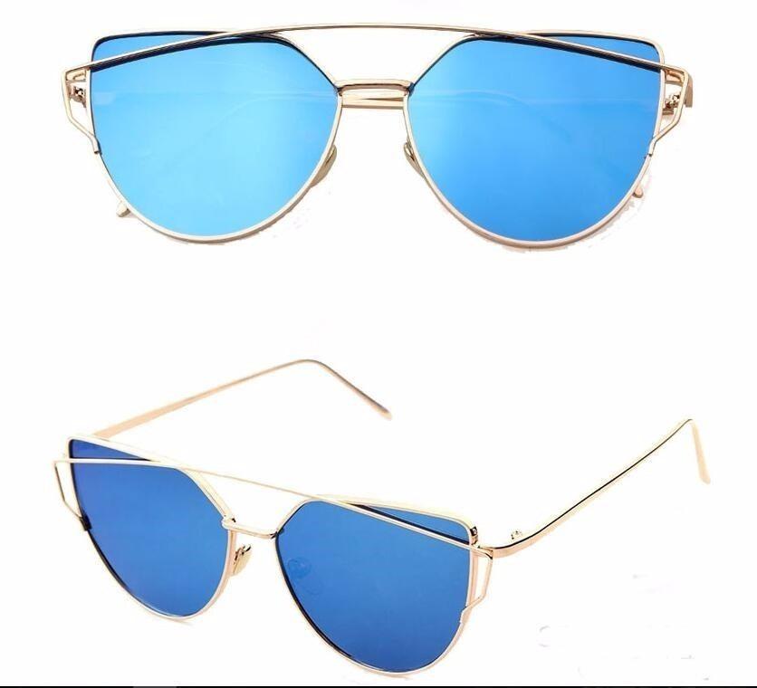 6c45c4d4777c6 óculos espelhado feminino olho de gato gatinho metal redondo. Carregando  zoom.