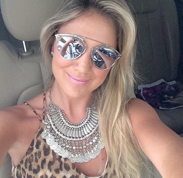 147d0537caa89 Óculos Espelhado Feminino So Real Barato - R  36,00 em Mercado Livre