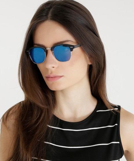 be1596e2681d3 Óculos Espelhado Lançamento Luxo 2019 Coleção Nova Tendencia - R  39 ...