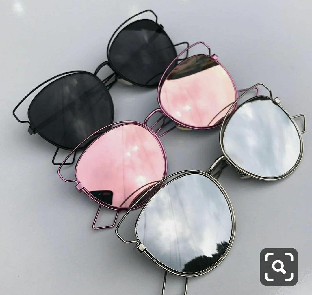 04744ea8f20e9 óculos espelhado lente colorida redondo feminino estiloso. Carregando zoom.
