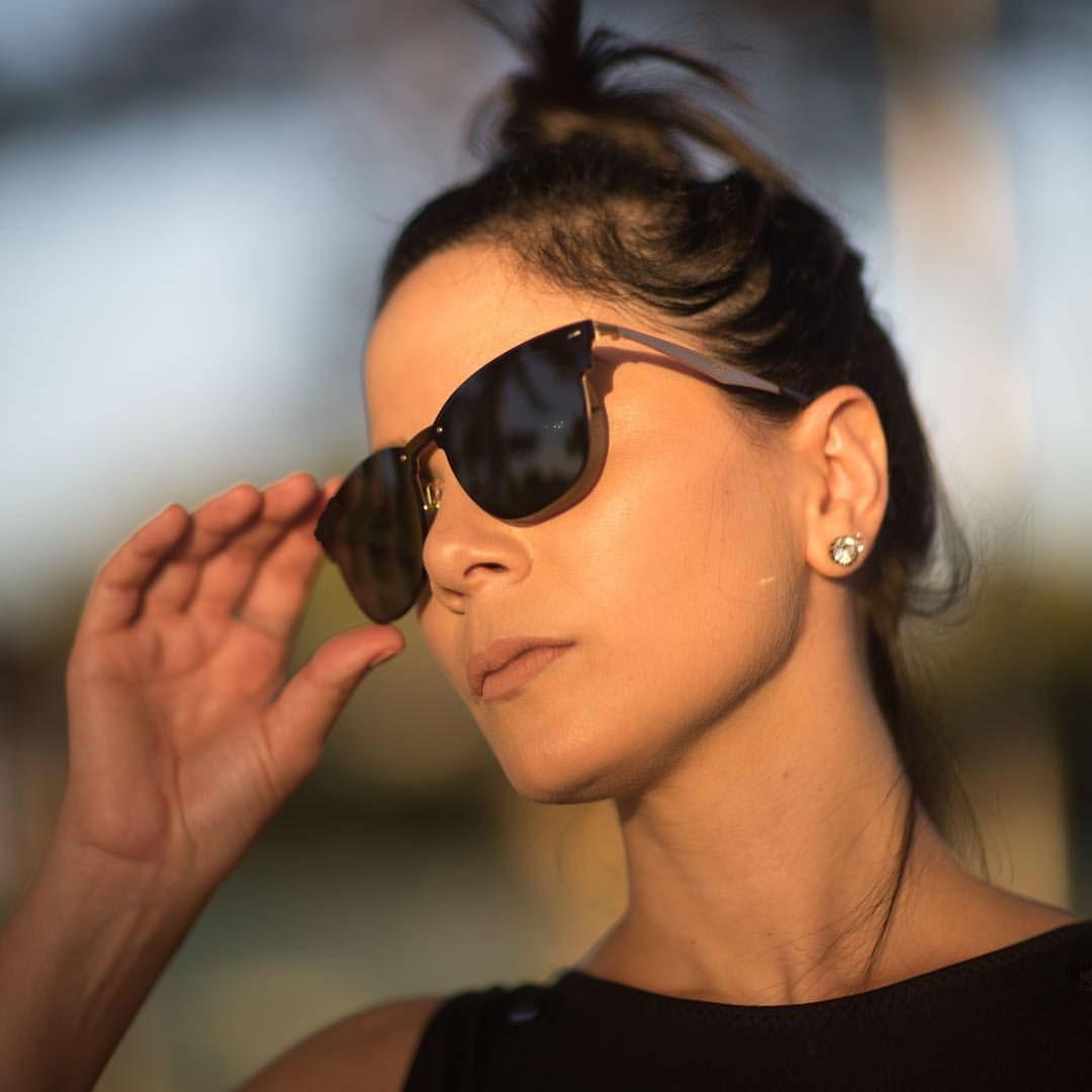 6ed120f507743 Óculos Espelhado Lindo Preto Lançamento Modinha 2018 Panicat - R  39 ...
