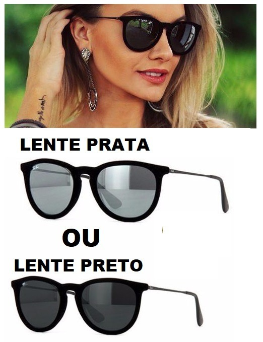 9c5abcfc2bdbb Óculos Espelhado Prata Preto De Marca Famosa Modelo Novo - R  39