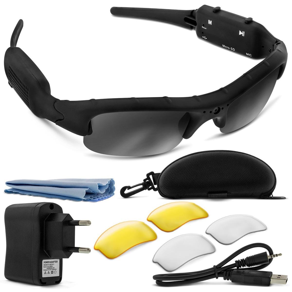 oculos espiao de sol camera filmadora usb sport leadership. Carregando zoom. 4a38881285
