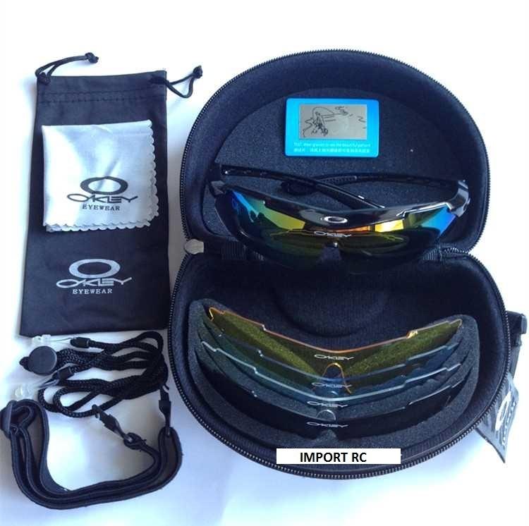 Óculos Esportivo Ciclismo Mtb Speed Tatico Oakley 5 Lentes - R  168 ... dbfbccb573