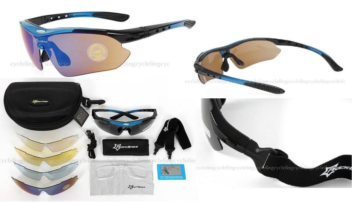 f50737cf2c51b Óculos Esportivo Corrida 5 Lentes-polarizado Rockbros Uv400 - R  129 ...