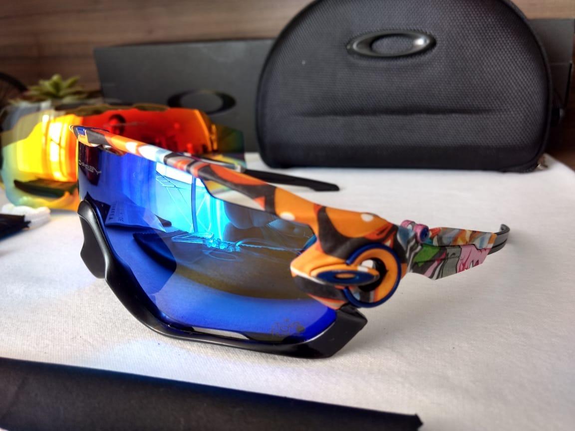 631693b2e66de óculos esportivo jawbreaker, 4 lentes e acessórios.... Carregando zoom.