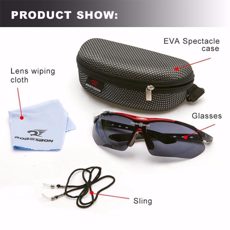 b0a8bba0e0b16 Oculos Esportivo Proteção Uv400 Robesbon - R  65