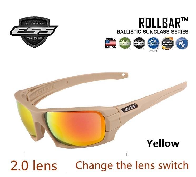 d9e9c35cdf9ba Óculos Ess Balístico Militar Tático 4 Lentes Polarizado Bege - R  129,99 em  Mercado Livre