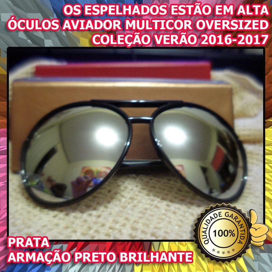 d8c6eecc5 óculos estilo aviador oversized 100% uv400 verão 2016-2017. Carregando zoom.