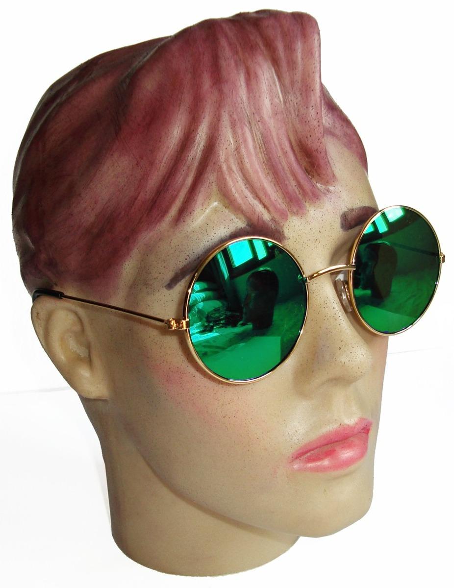 e519f21f0 oculos estilo redondo john lennon dourado lente verde espelh. Carregando  zoom.