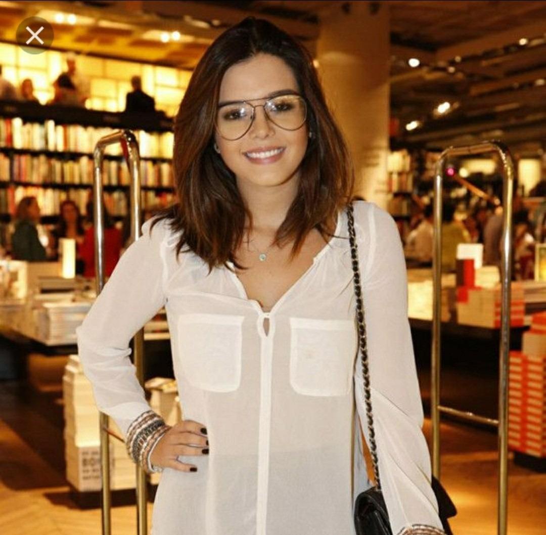 f5050f1375f47 Óculos Estiloso Lente Clara Transparente Moda Nerd Lindo - R  79