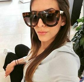 981b18445 Oculos Sol Quadrado Grande Marrom - Óculos no Mercado Livre Brasil