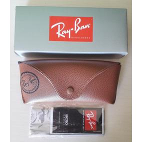 efe98d868d5f9 Kit Ray Ban Caixa Case De Couro Flanela Certificado - Óculos no ...