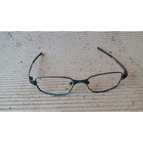 1bfce88570978 Armação Oculos Antigo Usado Unissex Metal Cinza Moderna 40