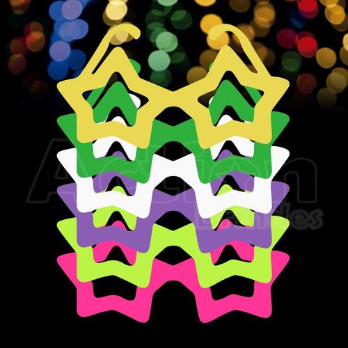 óculos estrela colorido - kit 10 unidades