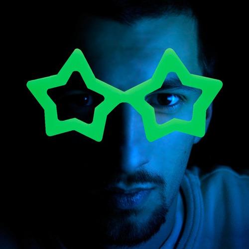 óculos estrela que brilha no escuro - kit 10 unidades