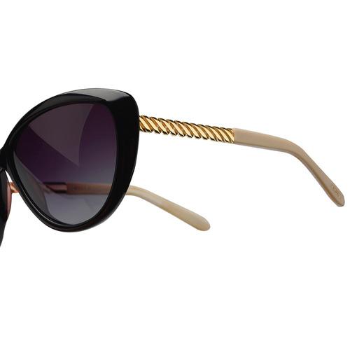 4758e8c41 Óculos Euro Preto, Dourado Feminino - Oc122eu/8p Original - R$ 299 ...