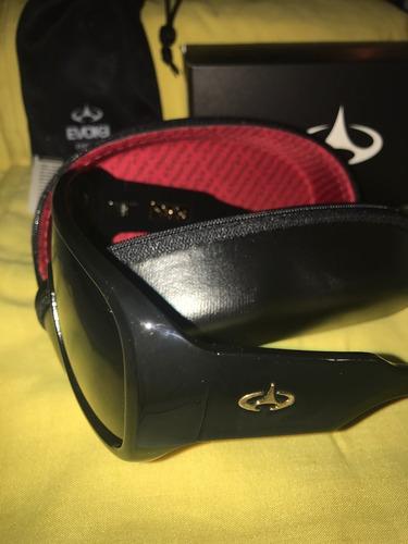 oculos evoke amplifier aviator black shine gold gray total