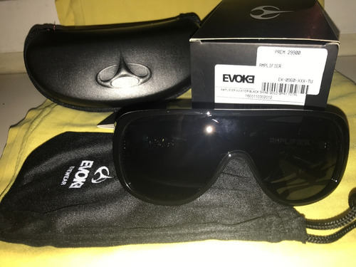 oculos evoke amplifier aviator black shine gold gray total