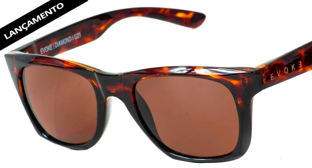 óculos evoke diamond g21 turtle black shine gold brown. Carregando zoom. d61bacaf16