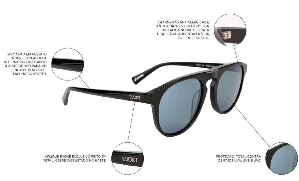 058ece5f6 Óculos Evoke For You Ds9 A03 Black Matte Degradê - R$ 345,00 em ...