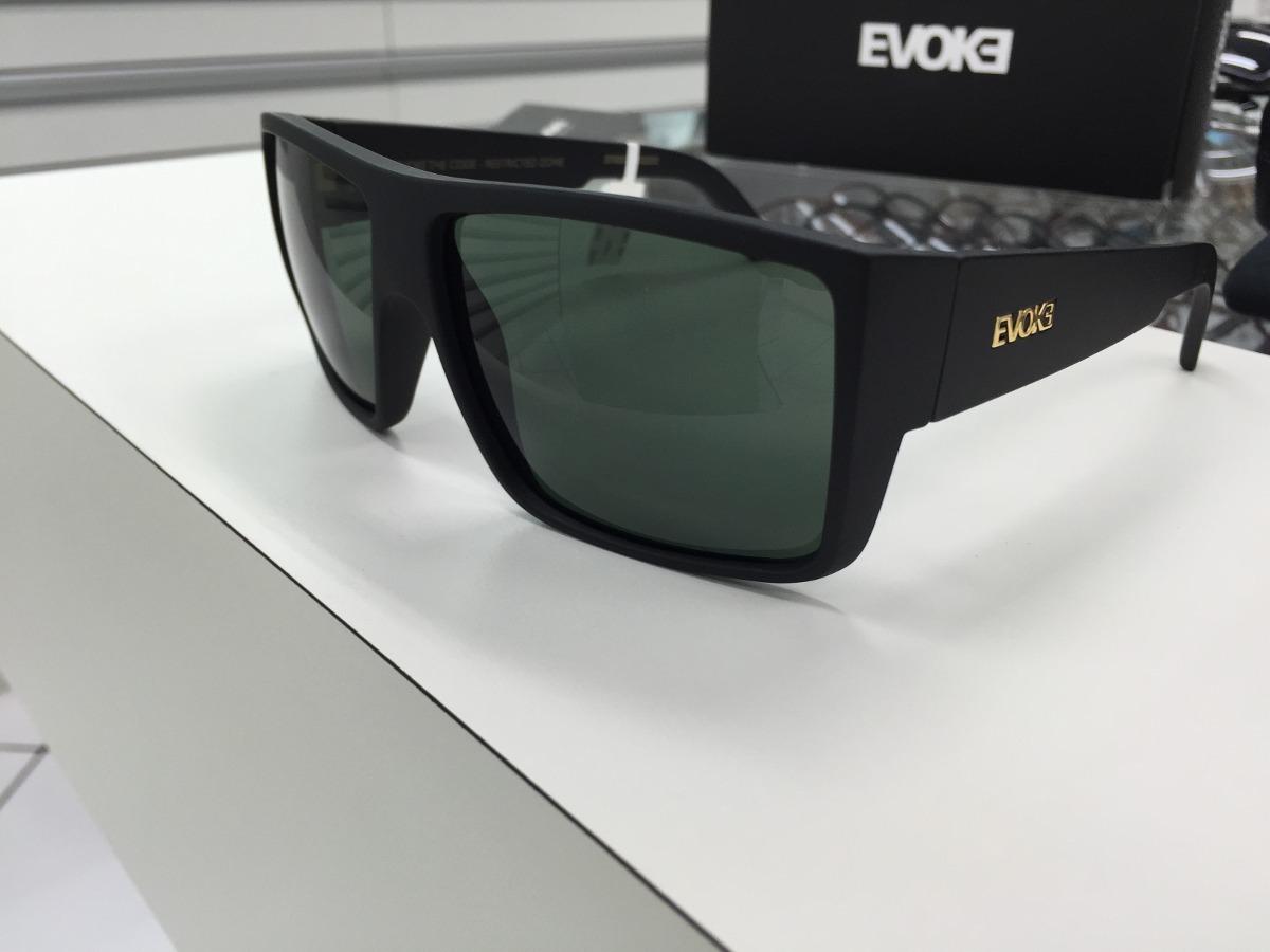 Oculos Evoke The Code A01g Preto Fosco L. Verde Escuro - R  449,99 ... f04322b190