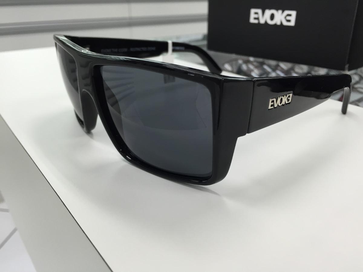 d07ef55df7765 Oculos Evoke The Code Preto Brilho Lente Ciza Escuro Origina - R ...