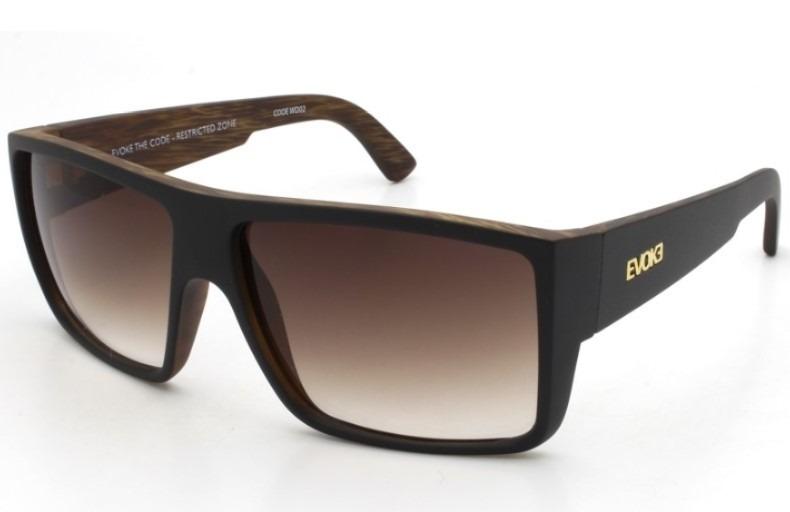 9174df2414491 Óculos Evoke The Code Wd02 Black Wood Gold Brown Gradient - R  525 ...
