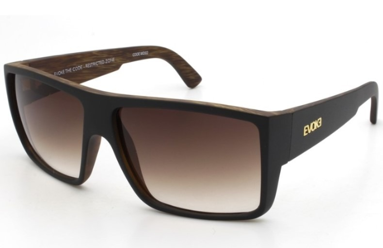 ccd919850 Óculos Evoke The Code Wd02 Black Wood Gold Brown Gradient - R$ 525 ...