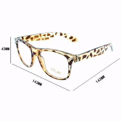óculos fashion lentes claras normal coloridos