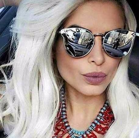 45c68bc1fea3a Óculos Fashion Para Mulher Solar 2019 Moda Praia Verão Lindo - R  39 ...