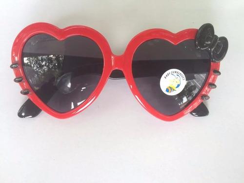 óculos feminina crianca importado de coração kitty