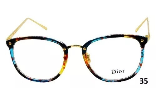 Oculos Feminino Armacao Grau Geek Quadrado Vintage Flora Dio - R  51 ... e903844729