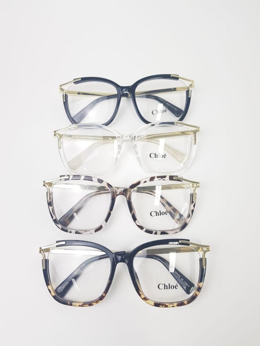 ec4797c55 óculos feminino armação de grau chloé réplica original. Carregando zoom.