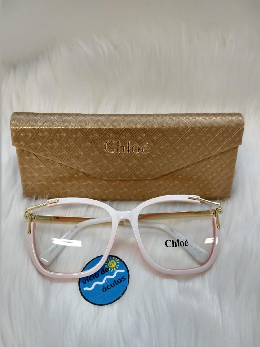 aafd8c415 óculos feminino armação de grau chloé réplica original. Carregando zoom.