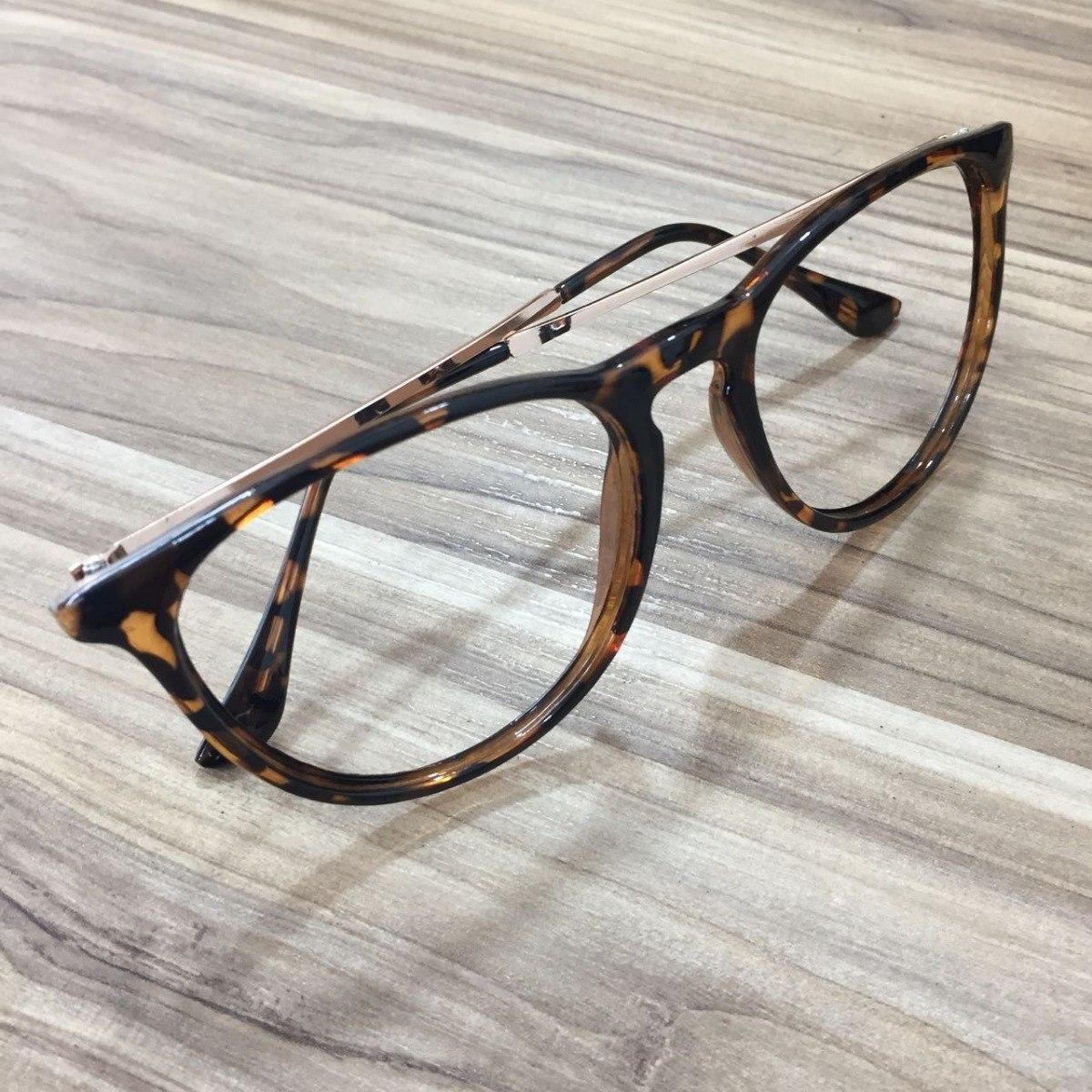 d42d8e3b50a0a óculos feminino armação de grau redonda erika geek tartarug. Carregando  zoom.