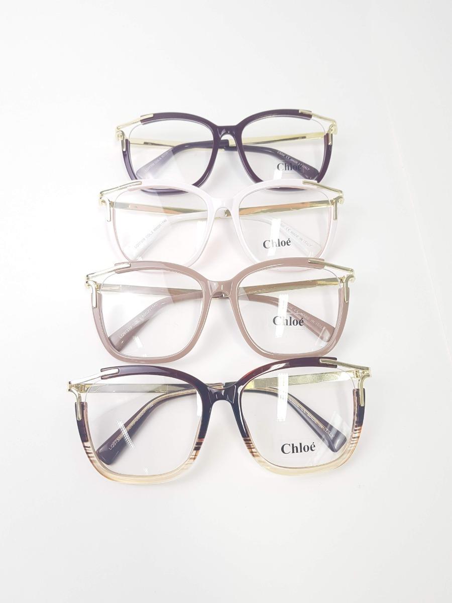 ffa187bc8 óculos feminino armação grau chloé réplica original. Carregando zoom.
