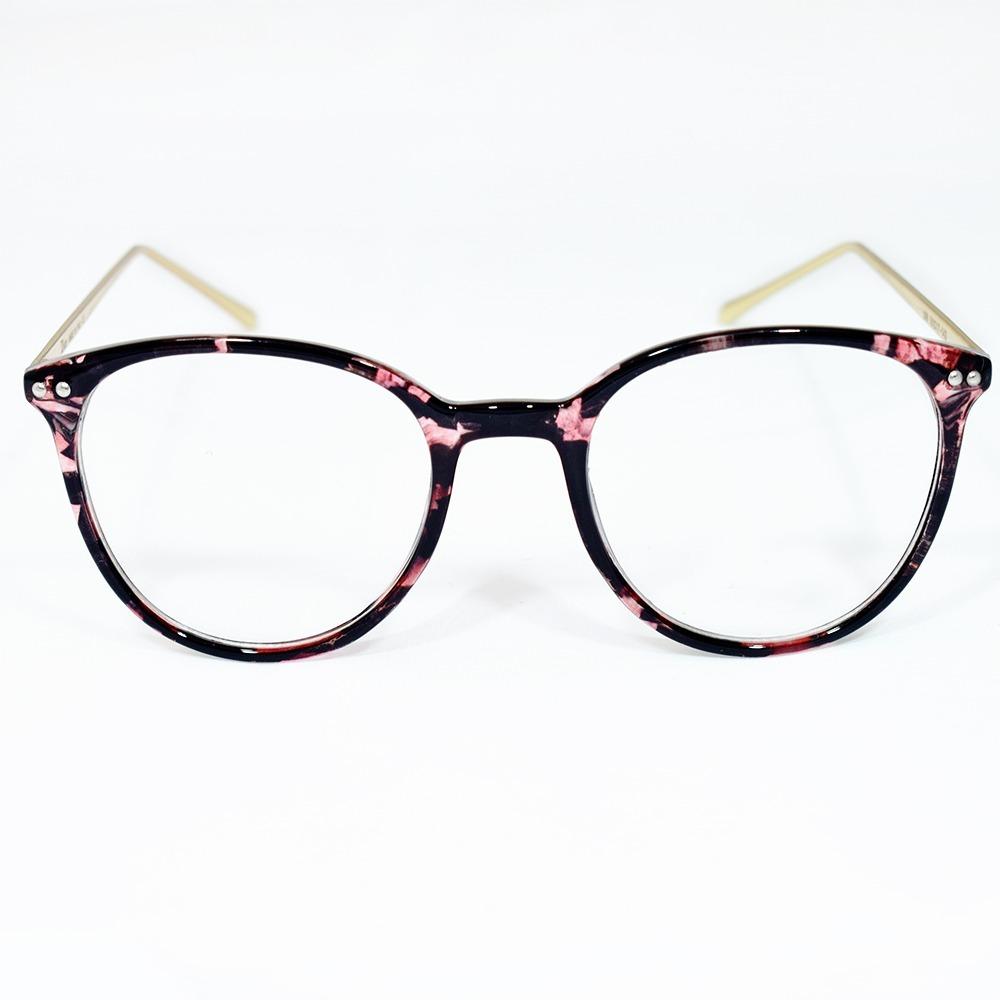 d2b2c9aff Óculos Feminino Armação Grau Estampado Dourado Estiloso - R$ 49,00 ...
