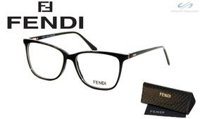 7e4f1e7cea Óculos Feminino Armação Grau Fendi 1635 Acetato Original