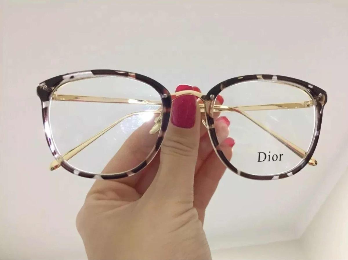 3087f2e98ac06 óculos feminino armação grau geek quadrado vintage dior. Carregando zoom.
