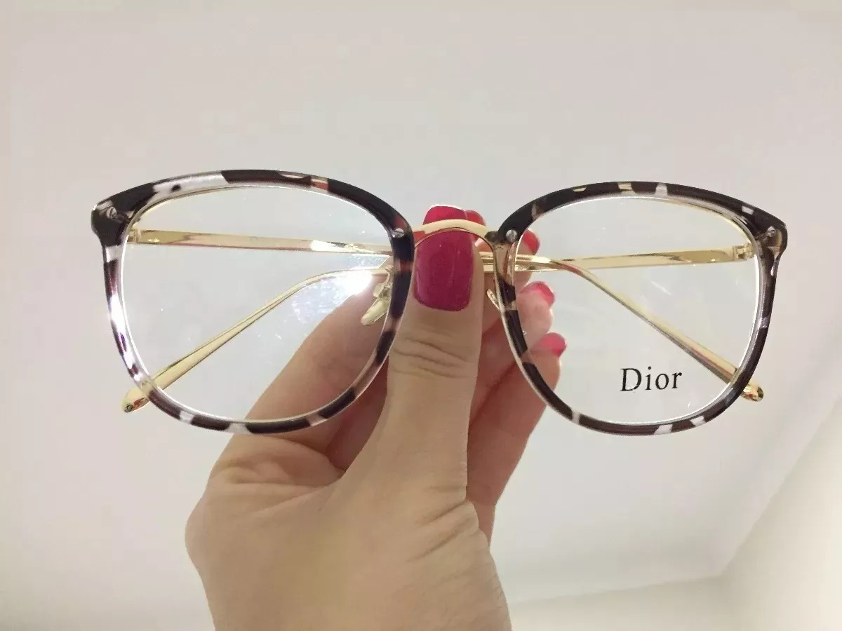 óculos feminino armação grau geek quadrado vintage flora dio. Carregando  zoom. 5fc9c2d8db