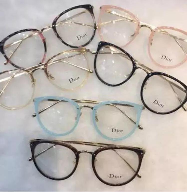 Óculos Feminino Armação Grau Geek Quadrado Vintage Nude Dio - R  39,00 em  Mercado Livre 4eb8a9d23b