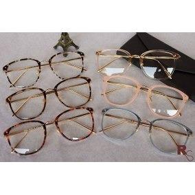 1f29bcded Óculos Feminino Armação Grau Geek Quadrado Vintage Promoção - R$ 69 ...