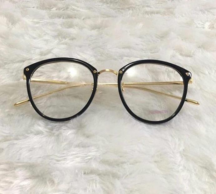 c0fa6822f568c Óculos Feminino Armação Grau Geek Redondo Vintage Flora - R  47