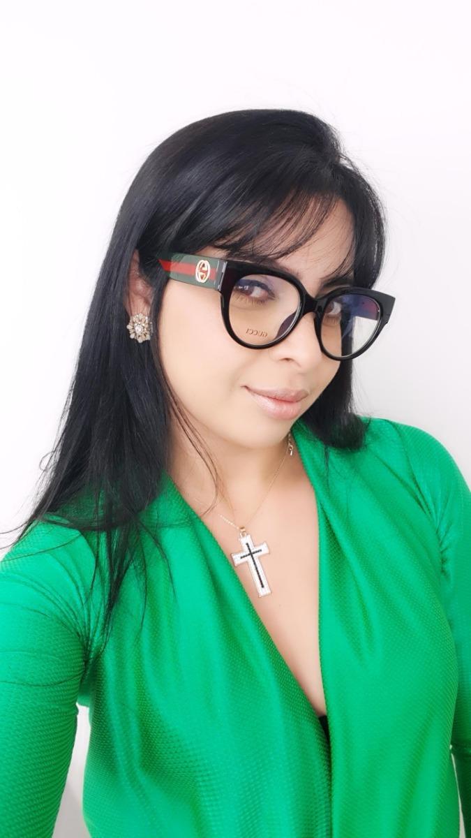 óculos feminino armação grau gucci gatinho réplica original. Carregando  zoom. 5bd76c0365