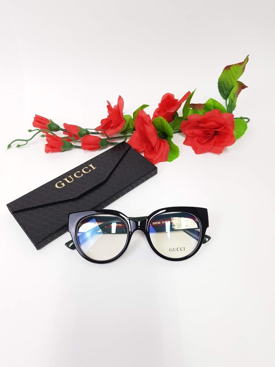 35f87625a óculos feminino armação grau gucci gatinho réplica original. Carregando zoom .