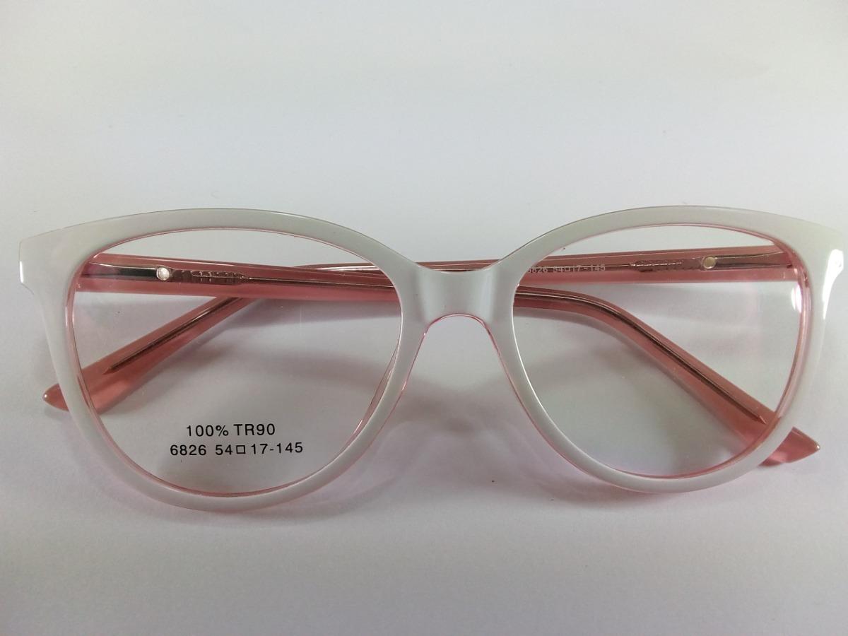 55a8e9f96 óculos feminino armação p/ grau gatinha branco rosa retro. Carregando zoom.