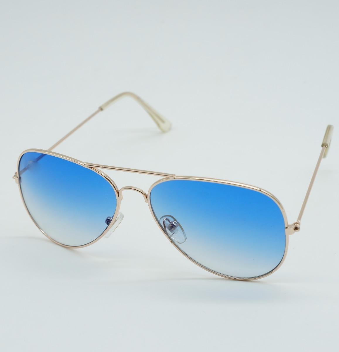 eb0d7a464 Óculos Feminino Aviador Azul Degrad Cristal 3025 3026 Uva B - R$ 120,00 em  Mercado Livre